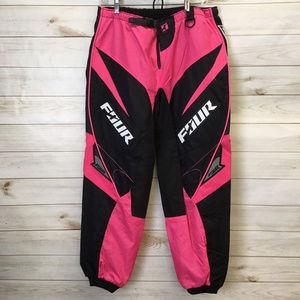 Four Racing Pants - Four Racing Pink Black MX Riding Pants motocross